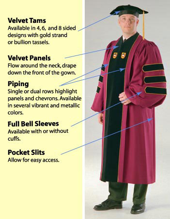 academic regalia and phd gowns by artneedle cap and gown .com